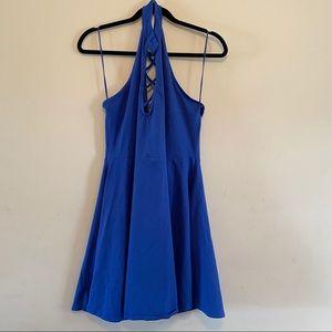Express Blue Halter Dress Size XL